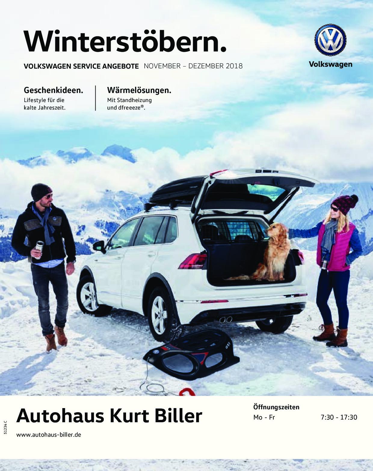 Aktuelle Serviceangebote November Dezember 2018 Autohaus Biller